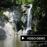 Living Panorama Picture (4) with floating waterfall and river