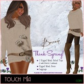 {TOUCH MIA} 'Think Spring!' - BROWN