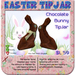 Chocolate Easter Bunny TipJars