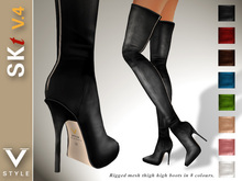 .: SKt V.4 rm :. Thigh High Leather Boots - Rigged Mesh