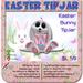 Easter Bunny TipJar Pink