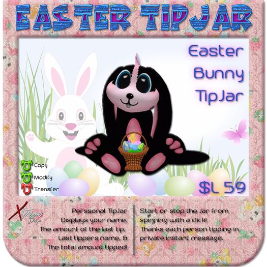 Easter Bunny TipJar Black
