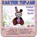 Easter Bear TipJar - Teddy Bear -