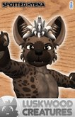 Luskwood Hyena Furry Avatar - Spotted Male