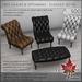 Trompe Loeil - Ines Chairs & Ottomans Classics Set PG  [mesh]