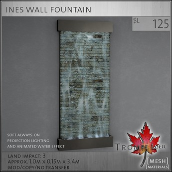 Trompe Loeil - Ines Wall Fountain [mesh]