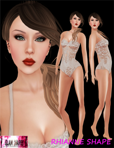 RHIANNE SHAPE FOR CLASSIC AVATAR **Free (Glam and Free by Sybil ***iamsybil resident Rezz Day Gift)