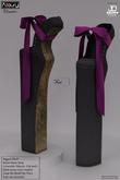AZOURY - Chromatics - Ballet Heels Shoe (Purple)