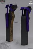 AZOURY - Chromatics - Ballet Heels Shoe (Violaceous)