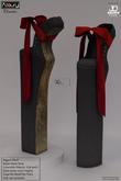 AZOURY - Chromatics - Ballet Heels Shoe (Red)