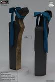 AZOURY - Chromatics - Ballet Heels Shoe (Blue)