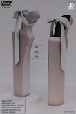 AZOURY - Chromatics - Ballet Heels Shoe (Pink and White)