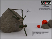 AZOURY - Necklace Essence (Green )