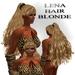 "EdelStore  woman hair "" Angelina "" blond / long / girl / blonde / female / ponytail"