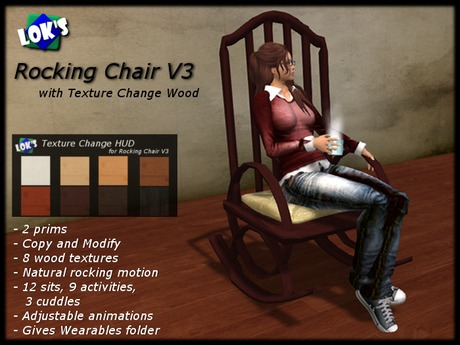 Lok's Rocking Chair V3 - only 2 land impact!