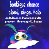 panda attachement cloud, wings blue
