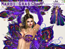 Mardi Gras Showgirl (shoes included)
