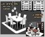 {XO} Full Perm Lur Dining Set