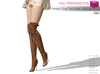 Full Perm FitMesh Over The Knee Lace Up Boots