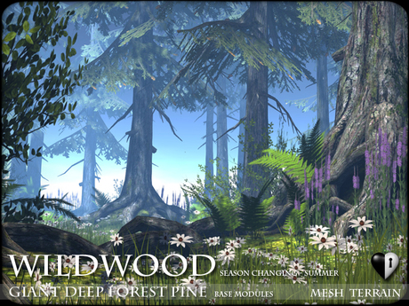 TREES - WILDWOOD MESH Giant Pine Tree Forest Modules - Season Changing