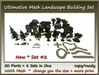 Ultimative Mesh Landscape Building Set Nr.2-50 Parts copy-mody