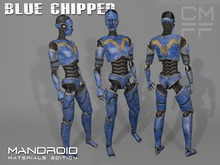 "CMFF ManDroid ""Blue Chipped"" Mesh Avatar DEMO"