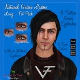 FAT PACK of LONG NATURAL Unisex Eyelashes & Eyeliner - Tattoo Layer