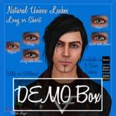 DEMOs of Natural Unisex Short & Long Eyelashes with & without Eyeliner - 3 basic colors DEMOs ONLY
