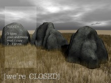 [we're CLOSED] rocks