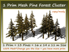 1 Prim Mesh Pine Forest Cluster 13 Pines=16x14x11m Size copy-mo