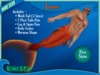 =LunaSea= Merman Outfit - Lava (5 Sizes)