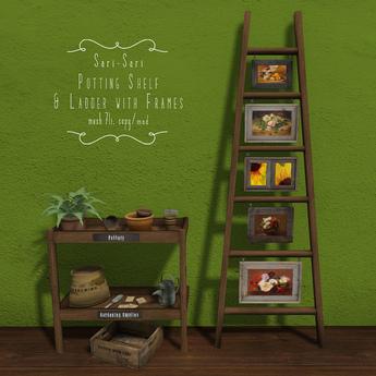 Sari-Sari - Potting Shelf & Ladder with Frames