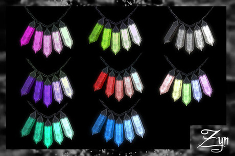 Zyn ~ Multi Hued Crystal Necklace