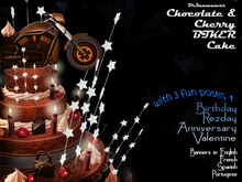 Dr3amweaver - Chocolate & Cherry BIKER Cake  - Birthday, Rezday, Anniversary, Valentine - with  3  fun poses