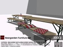 22769 ~ [bauwerk] Beergarden Furniture Set