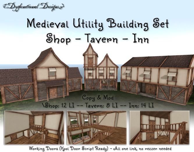 [DDD] Medieval Utility Building Pack