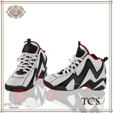 .:Ecce Bellus:. TC's Basketball Shoe-White & Red