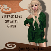 :SS: Freebie Vintage Love Sweater Green Mesh