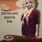 :SS: Freebie Vintage Love Sweater Pink Mesh
