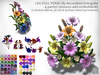 LDG-FULL PERM 105 Lily decoration triangular/4 parts/2 textures add-on/Builderkit