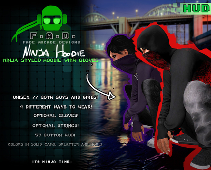 F.A.D. // Ninja Hoodie