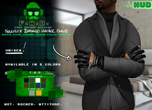 F.A.D. // Knucklez Unisex Zippered Leather Gloves + HUD