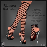 Shoes - *Felicity* Xiomara Stilettos - Black Leather High Heels (24 Sole & 24 Heel Colors) Laced Up Knee Sandals