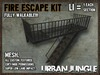 FIRE ESCAPE KIT - MESH - WALKABLE!! - URBAN JUNGLE