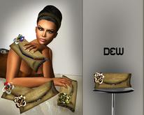 """DEW"" Masai clutch (brown/creme)"