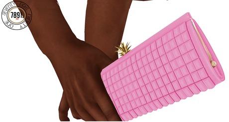 [7891.] Vitate Clutch - Pink (W\Resize)