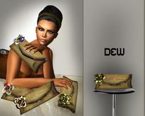 """DEW"" Masai clutch (green/white)"