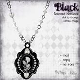 {Violet Voltaire} Glitterati Necklace - Black