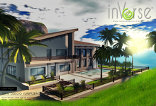 inVerse® San Diego -  low prims UNFURNISHED *mesh*  modern house