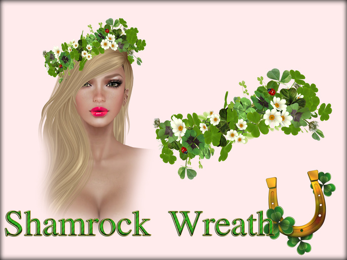 Boudoir -Sain't Patrick Shamrock Wreath